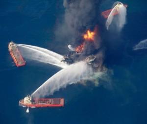 pétrole en feu